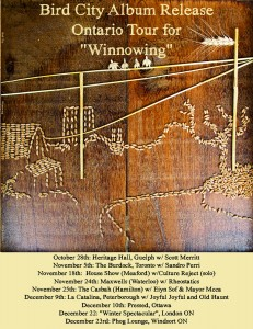 Winnowing tour poster